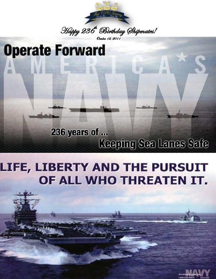 Happy 236th Birthday Shipmates!           October 12, 2011