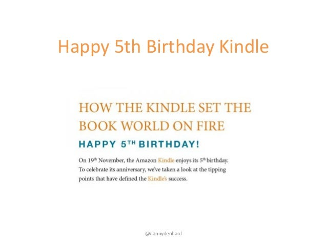 Happy 5th birthday Amazon Kindle