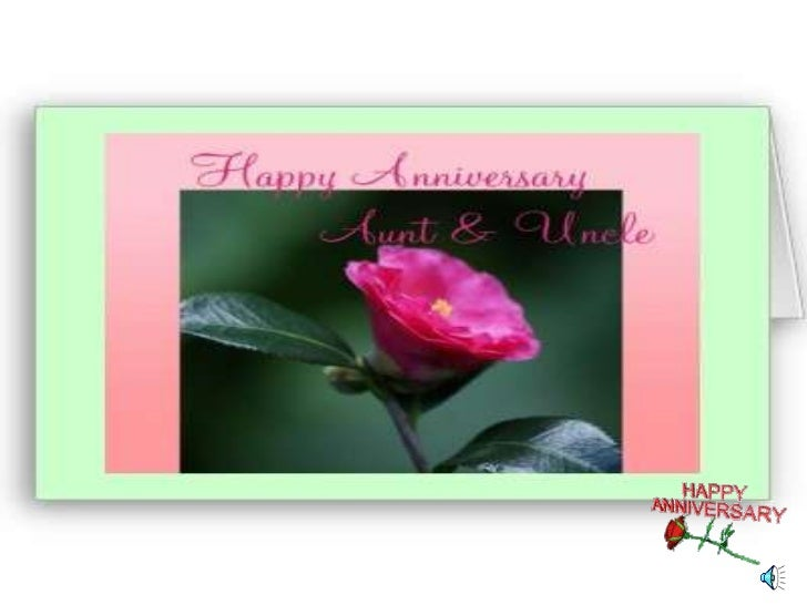 Happy anniversary to aunt and uncle