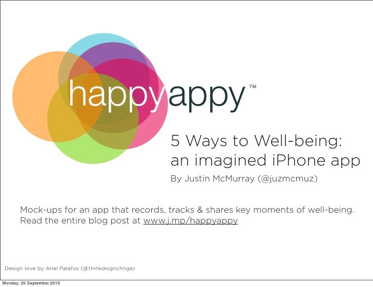 happyappy                            TM                                                      5 Ways to Well-being:        ...