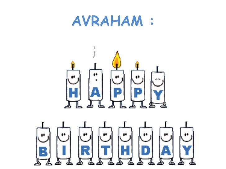 Happy birthday Avraham!! II