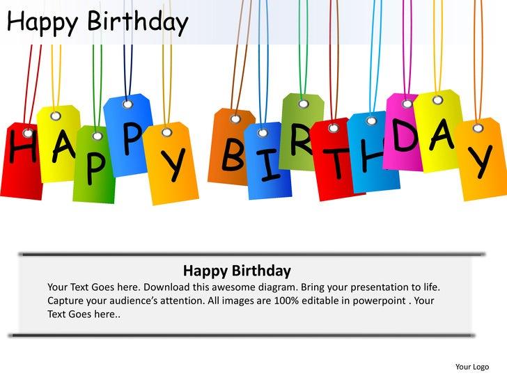 Happy Birthday Celebrations Cake Candles Powerpoint