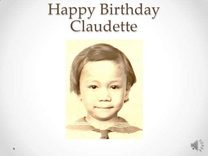 Happy Birthday  Claudette