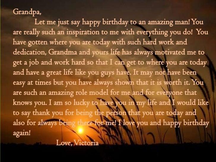 My Grandfathers 80th birthday speech.?