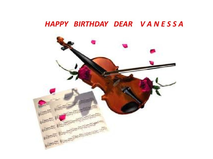Happy Birthday Vanessa