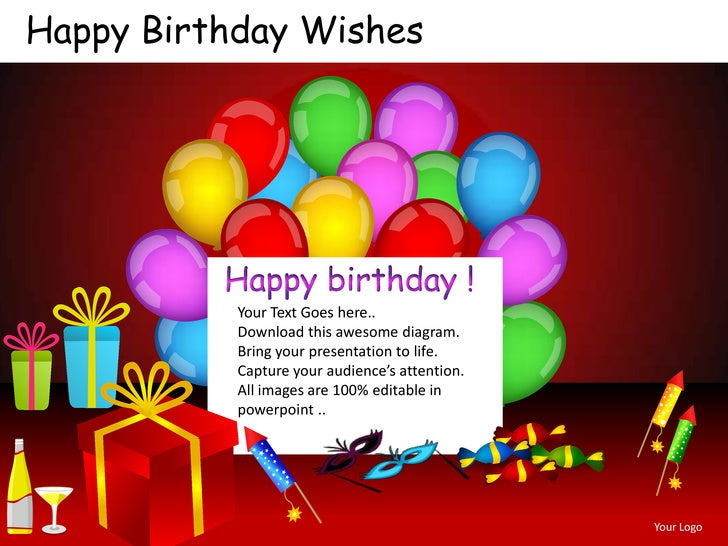 Wishes Email Template Birthday For Powerpoint Templates Presentation Happy