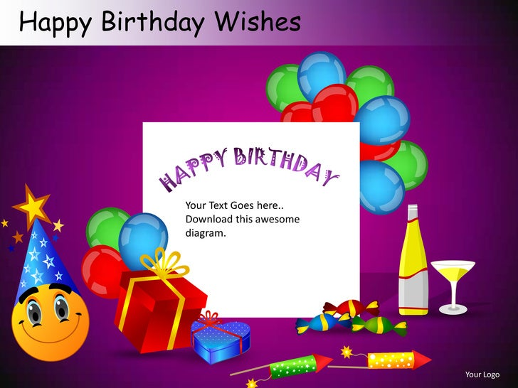 happy birthday wishes powerpoint presentation templates. Black Bedroom Furniture Sets. Home Design Ideas