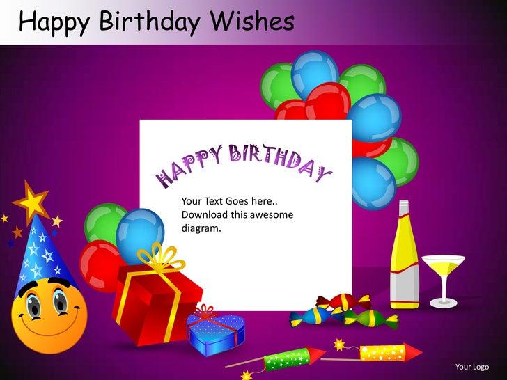 happy birthday wishes powerpoint presentation templates