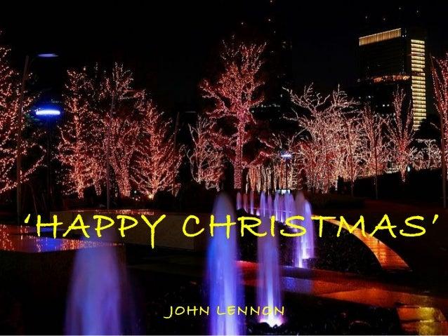 'HAPPY CHRISTMAS'      JOHN LENNON