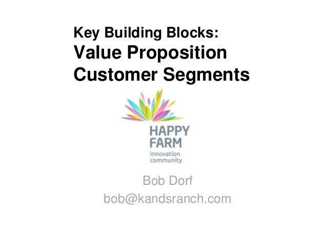 Key Building Blocks:Value PropositionCustomer Segments         Bob Dorf    bob@kandsranch.com