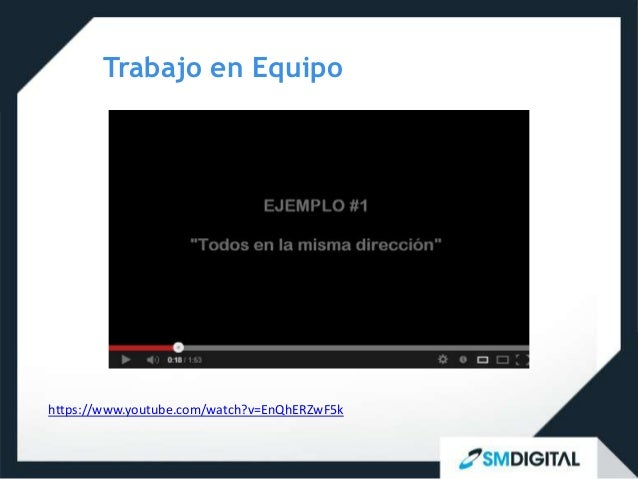 Trabajo en Equipohttps://www.youtube.com/watch?v=EnQhERZwF5k