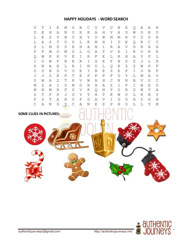 Happy Holidays-  Vocabulary to Speak with Americans