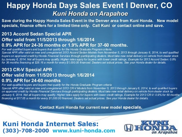 Happy Honda Days Sales Event 2014 Denver News l Happy Honda Days