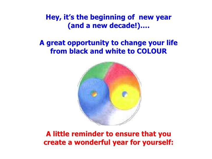 Hey, it's the beginning of  new year (and a new decade!)….A great opportunity to change your life from black and white to ...