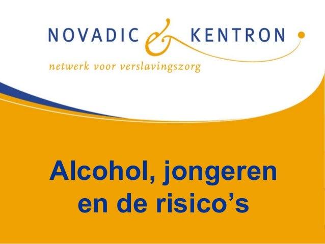 Alcohol, jongeren  en de risico's
