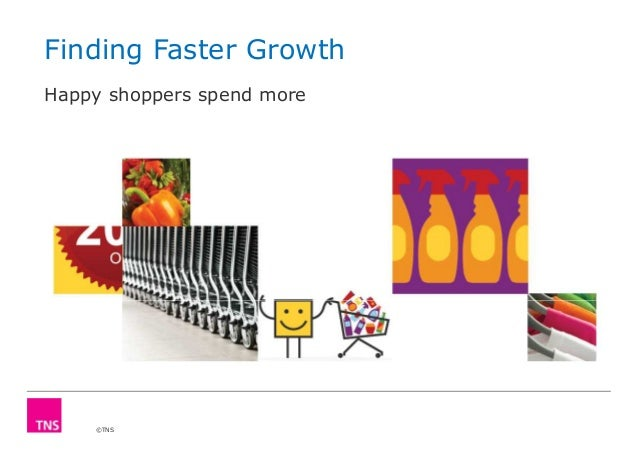 Finding Faster Growth Happy shoppers spend more  ©TNS
