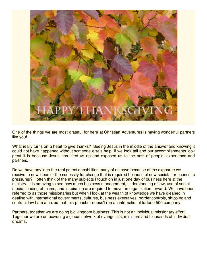 Happy thanksgiving from the mcnulty ministries