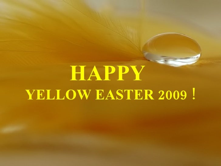HAPPY  YELLOW EASTER 2009 !