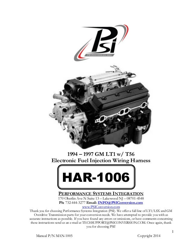 Har 1006 Lt1 Harness Instructions