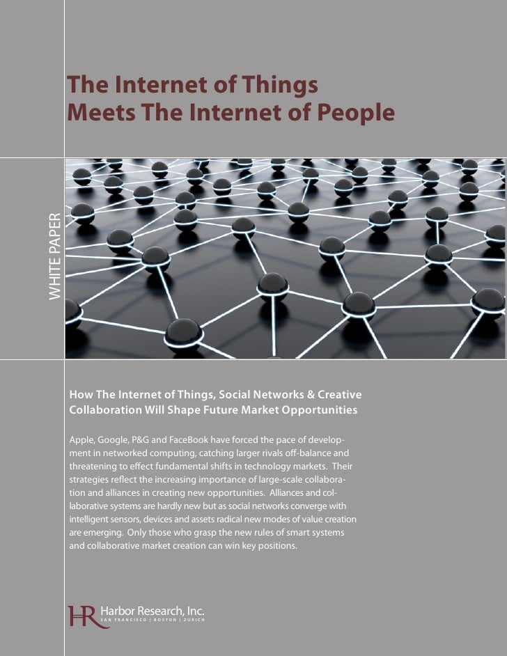 Harbor Research - The Internet of Things Meets the Internet of People