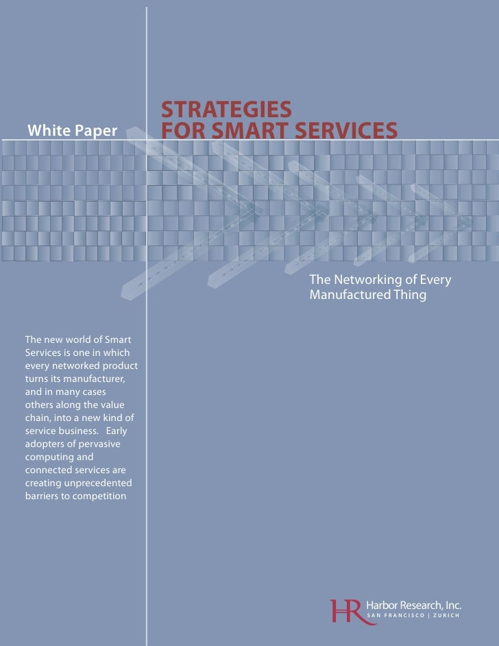 STRATEGIES White Paper                 FOR SMART SERVICES                                         oM                      ...