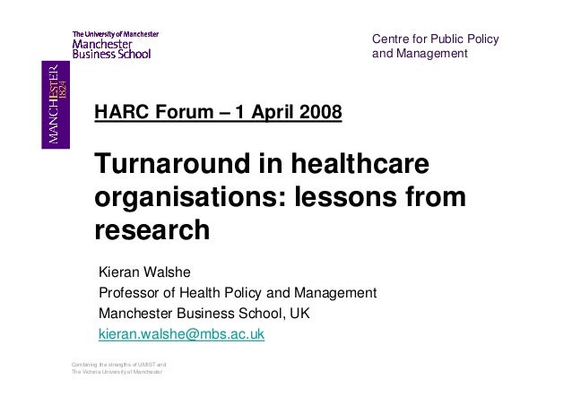 Kieran Walshe   Capitalising on opportunities for hospital reform