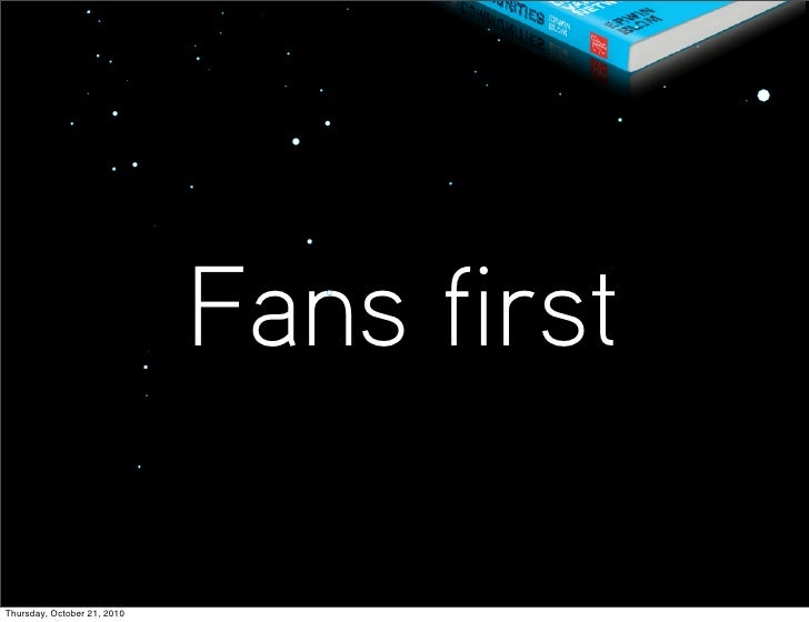 Music & media: FANS FIRST!