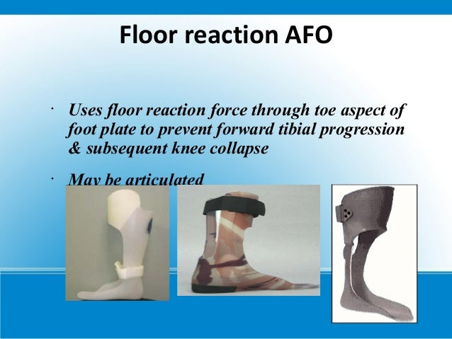 Cerebral palsy for Floor reaction afo