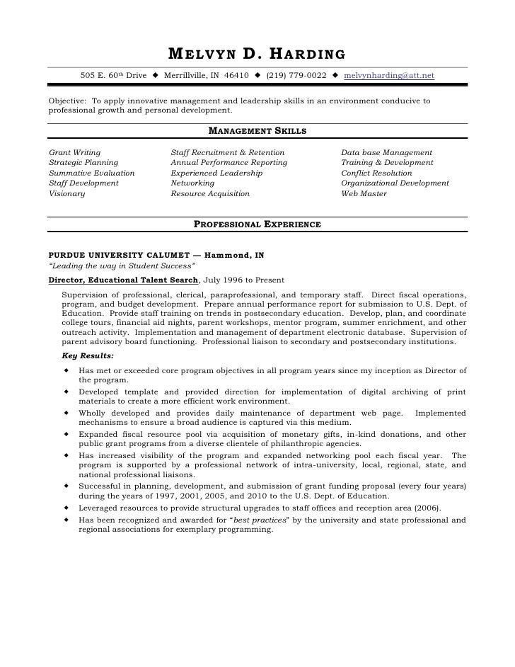 Functional resume for social services