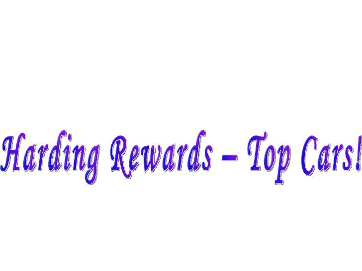Harding Rewards – Top Cars!