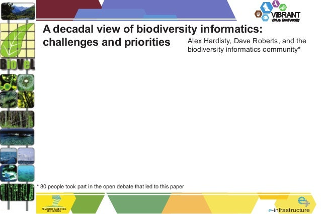 ViBRANT Virtual Biodiversity  A decadal view of biodiversity informatics: Alex Hardisty, Dave Roberts, and the challenges ...