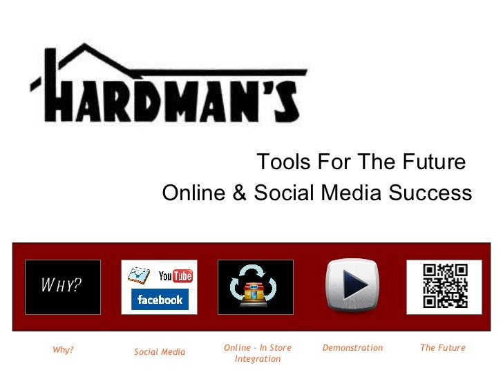 Tools For The Future  Online & Social Media Success Why? Social Media Online - In Store Integration The Future Demonstrati...