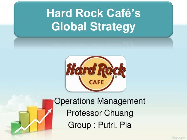 Hard Rock Café's Global Strategy Operations Management Professor Chuang Group : Putri, Pia