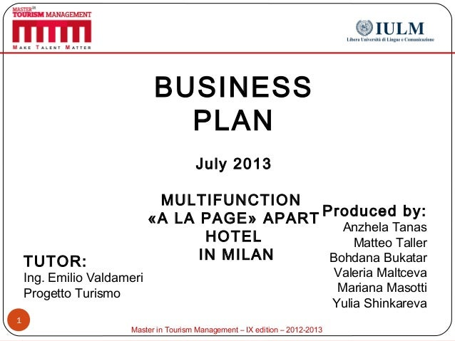 Mtm ixth business plan multifunction a la page apart for Apart hotel a la maison