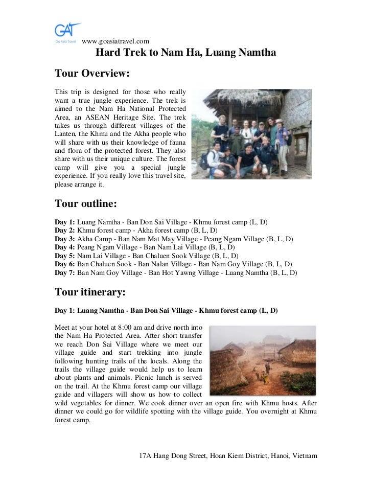 Hard trek to nam ha, luang namtha, Laos's tours, Vietnam tours, Vietnam tour operator, travel company in Vietnam, Laos's adventure tours