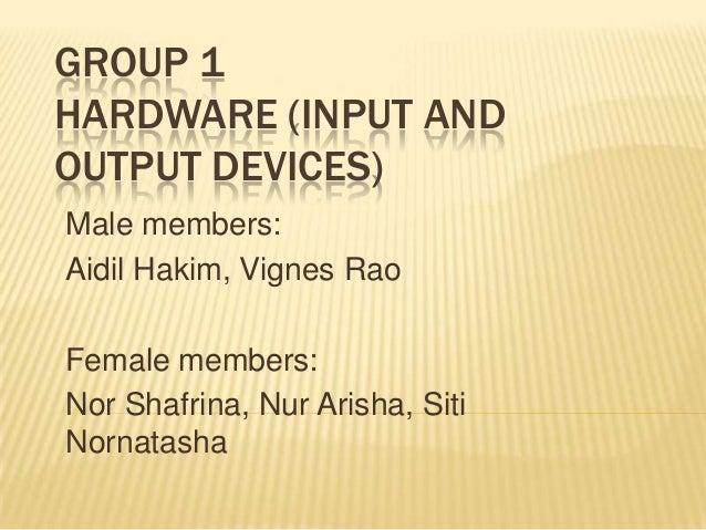 Hardware  input - output kerja khursus