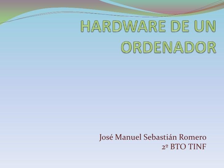 Hardware de un ordenador