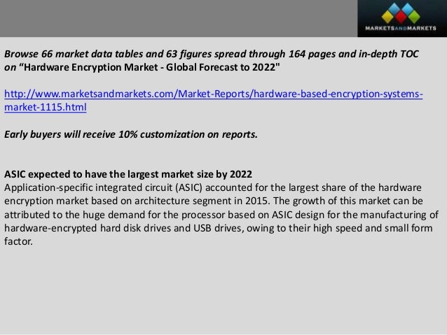 global hardware encryption market 99strategy cluster revealed a replacement business analysis that focuses on hardware encryption devices market and delivers in-depth marketing research and future.