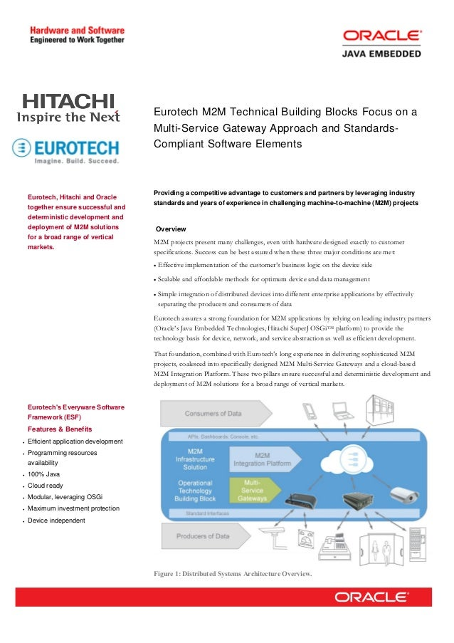 Eurotech M2M Technical Building Blocks Focus on aMulti-Service Gateway Approach and Standards-Compliant Software ElementsE...