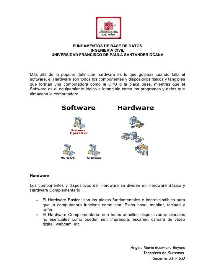 FUNDAMENTOS DE BASE DE DATOS                           INGENIERIA CIVIL           UNIVERSIDAD FRANCISCO DE PAULA SANTANDER...