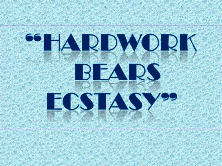 Hardwork bears ecstacy