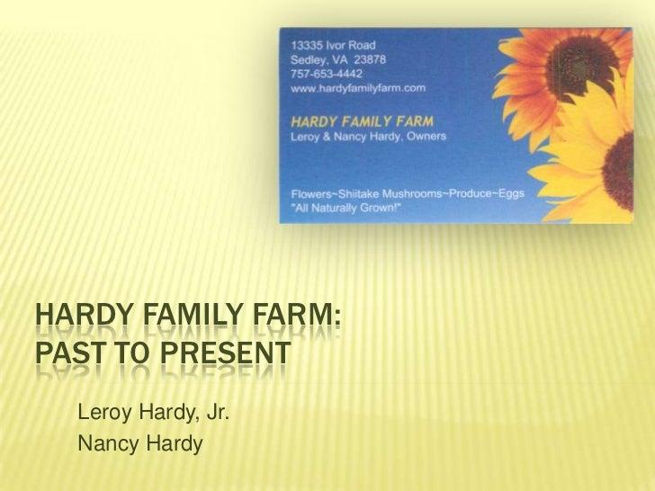 Leroy Hardy - Hardy Family Farm