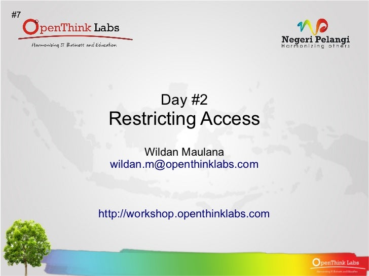 Apache2 BootCamp : Restricting Access