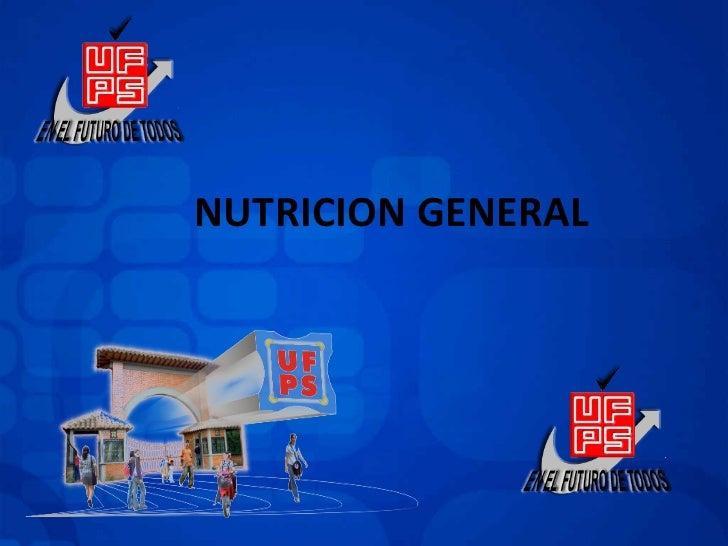 NUTRICION GENERAL
