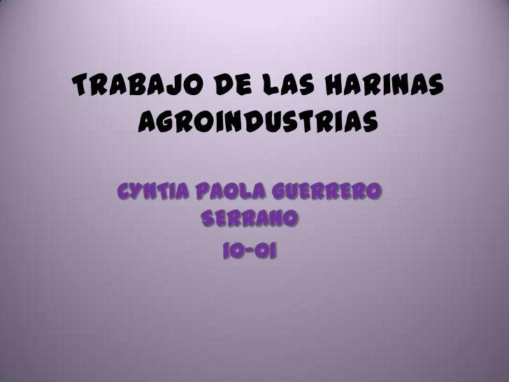 Harinas de agroindustrias