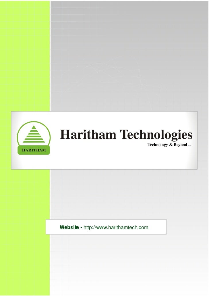 Haritham Technologies                                               Technology & Beyond ...HARITHAM           Website - ht...