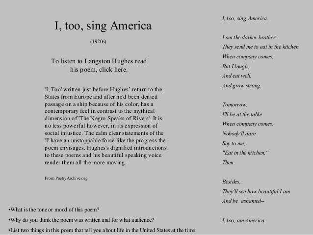 an analysis of the harlem renaissance in the united states of america Langston hughes & the harlem renaissance: crash course literature 215 - duration: i, too, sing america analysis - duration: 12:13 14abredikin 15,396 views 12:13 united states restricted mode: off history help.