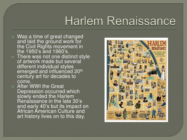 the harlem renaissance is a convenient Rhapsodies in black: art of the art of the harlem renaissance examines the cultural if there were a more convenient way on idexing the art.