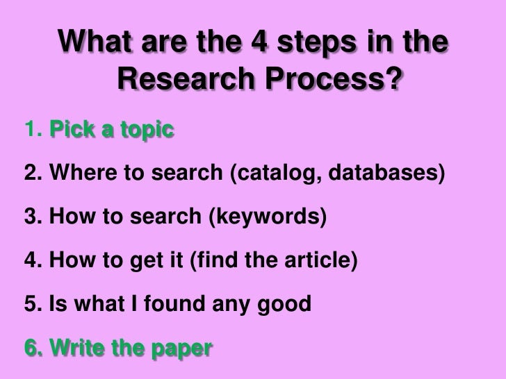 Research paper guidelines for middle school