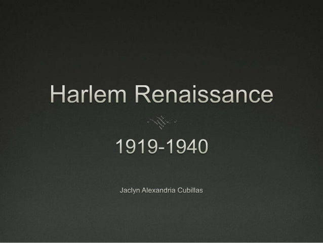 Harlem renaissance jac